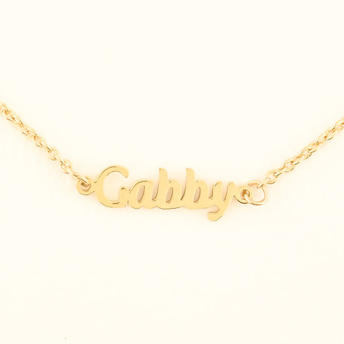 Name Plate Necklace G