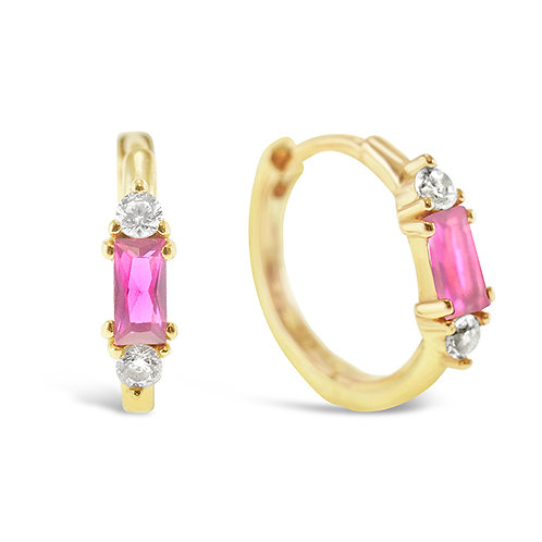 Gold Plated Sterling Silver Cubic Zirconia Earrings 141609