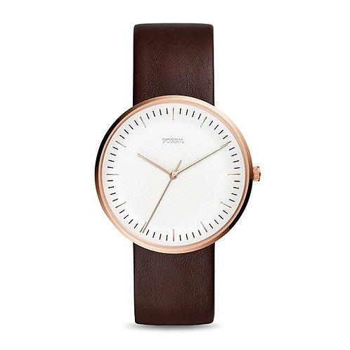 Fossil Essentialist Three-Hand Java Leather Watch 132965