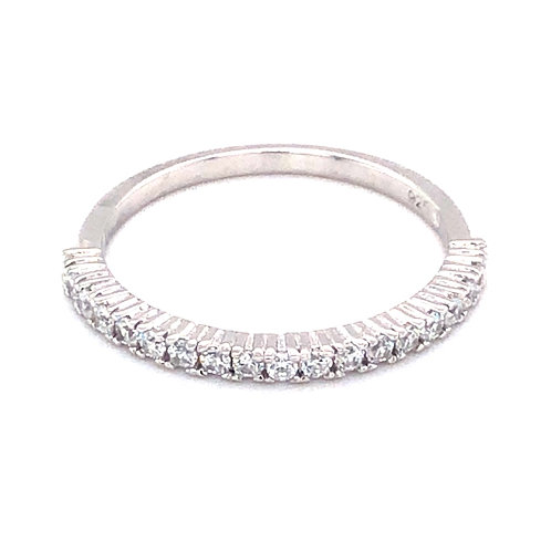 Bitter Sweet Sterling Silver Cubic Zirconia Ring 143532