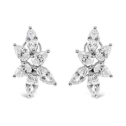 Bitter Sweet Sterling Silver Cubic Zirconia Earrings 141130