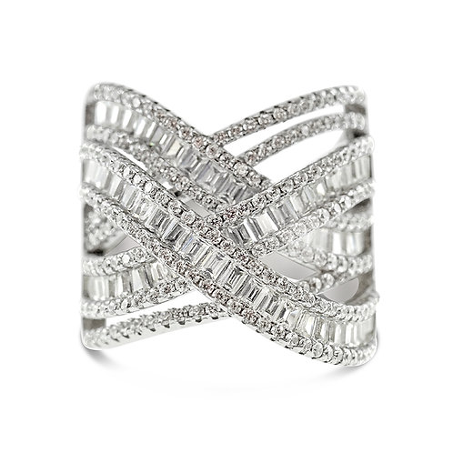 Bitter Sweet Sterling Silver Cubic Zirconia Ring 131210
