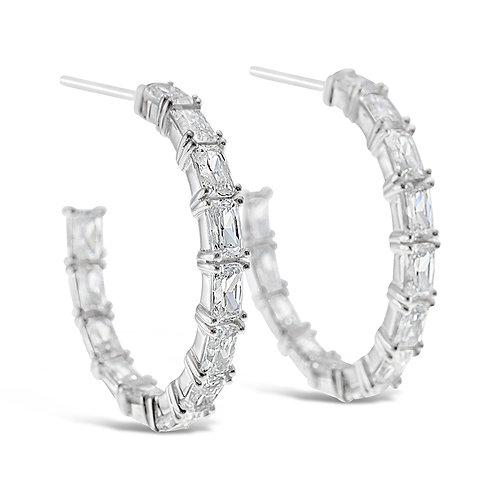 Bitter Sweet Sterling Silver Cubic Zirconia Earrings 141675