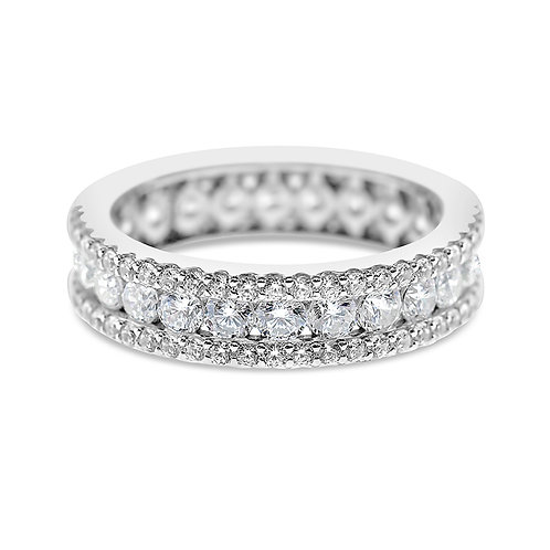 Bitter Sweet Sterling Silver Cubic Zirconia Ring 132123