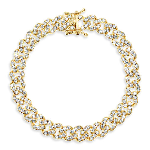 Bitter Sweet Cubic Zirconia Cuban Link Anklet 143070