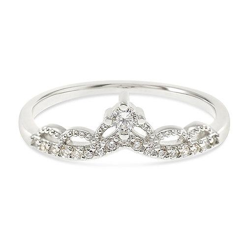 Bitter Sweet Fashion Silver Cubic Zirconia Ring 141890