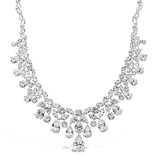 Bitter Sweet Bridal Silver Cubic Zirconia Necklace 143595