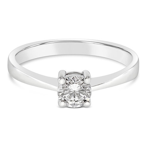 Bitter Sweet Sterling Silver Cubic Zirconia Ring 131351