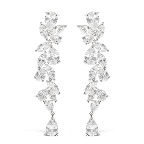 Bitter Sweet Silver Cubic Zirconia Drop Earrings 142879