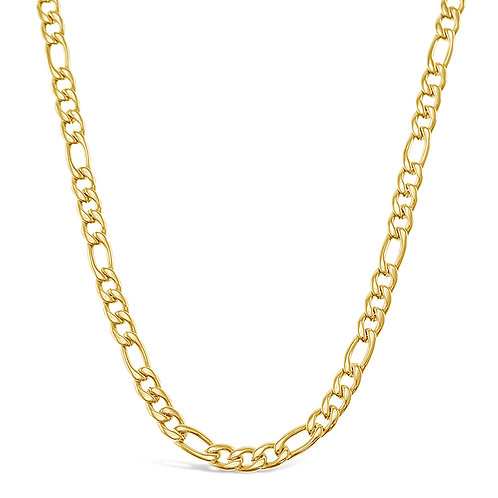 Bitter Sweet Jewellery Stainless Steel Figaro Gold Necklace 142328