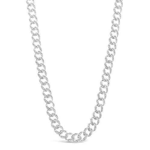 Costume Pave Link Necklace