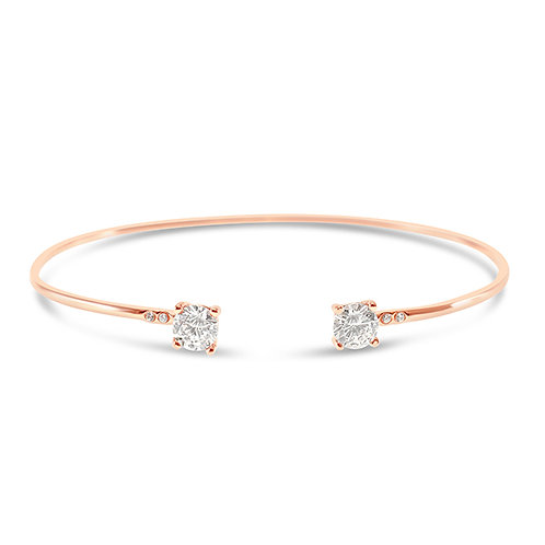 Rosegold Plated Sterling Silver Cubic Zirconia Bracelet 133036