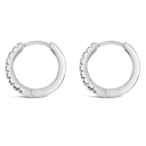 Sterling Silver Cubic Zirconia Huggies 132842