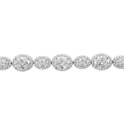 Sterling Silver Cubic Zirconia Bracelet 125091