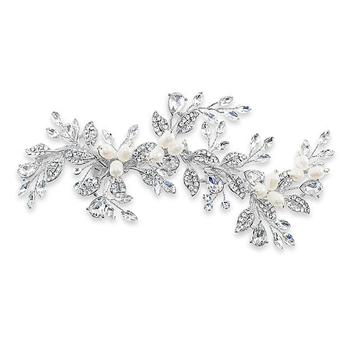 Bridal Silver Hair Clip 129831