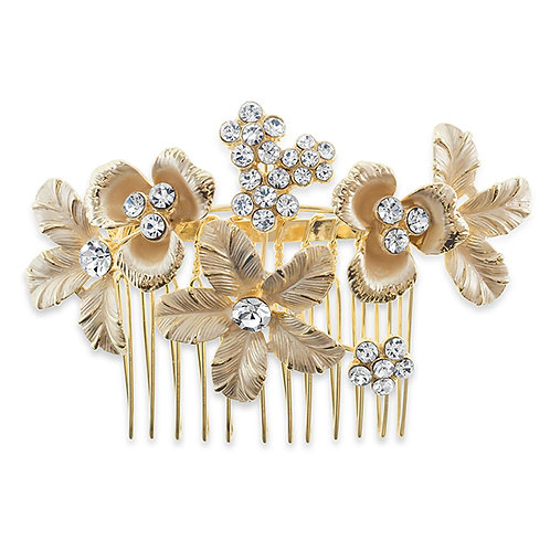 Bridal Gold Leaf Hair Comb