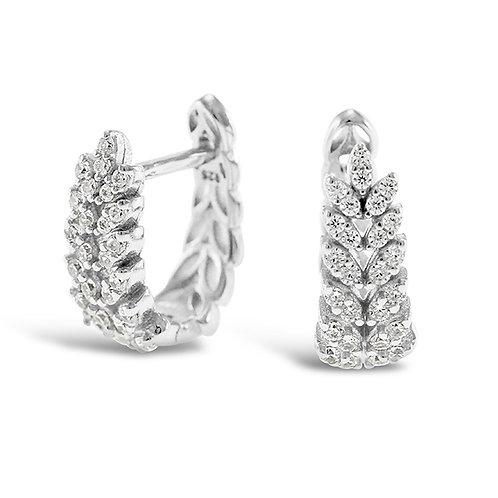Bitter Sweet Sterling Silver Cubic Zirconia Huggie Earrings 143291