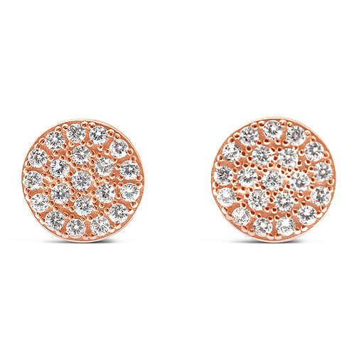 Rose Gold Plated Sterling Silver Cubic Zirconia Earrings 129283