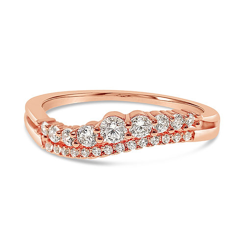 Bitter Sweet Fashion Rosegold Cubic Zirconia Ring 141864