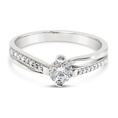 Bitter Sweet Sterling Silver Cubic Zirconia Ring 133806