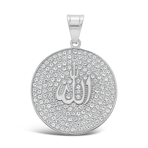 Bitter Sweet Jewellery Stainless Steel Silver Crystal Allah Pendant 142513