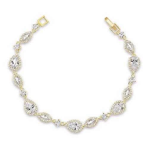 Bitter Sweet Bridal Gold Cubic Zirconia Bracelet 143591