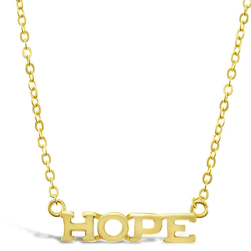 Bitter Sweet Gold Plated Sterling Silver Hope Necklace 143403