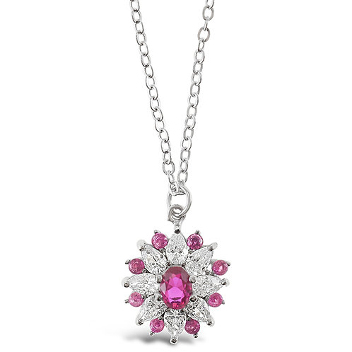 Sterling Silver Cubic Zirconia Necklace 141588