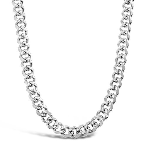 Bitter Sweet Jewellery Stainless Steel Curb Silver Necklace 142338