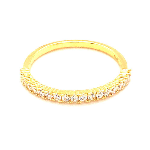 Bitter Sweet Gold Plated Sterling Silver Cubic Zirconia Ring 143537