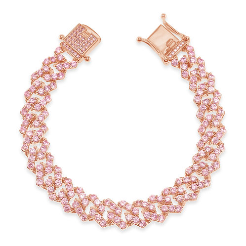 Fashion Cubic Zirconia Cuban Link Bracelet