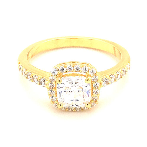 Bitter Sweet Gold Plated Sterling Silver Cubic Zirconia Ring 143514