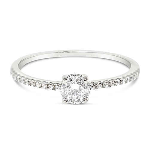 Bitter Sweet Sterling Silver Cubic Zirconia Ring 131402