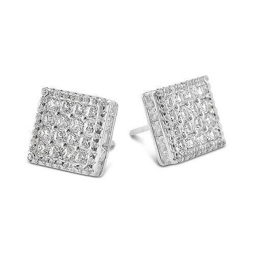 Bitter Sweet Sterling Silver Cubic Zirconia Earrings 142508
