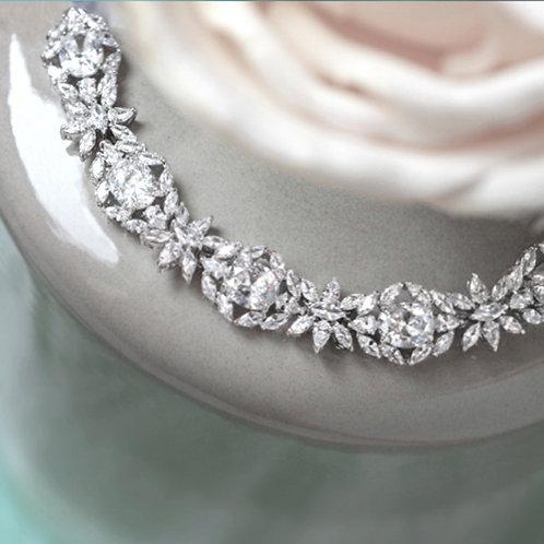 Bridal Silver Cubic Zirconia Bracelet 137432