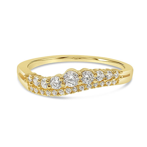 Bitter Sweet Fashion Gold Cubic Zirconia Ring 141864