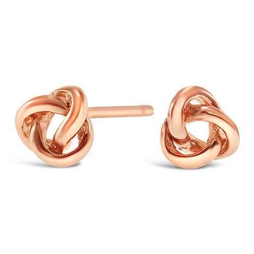 Rosegold Plated Sterling Silver Knot Earrings 143298