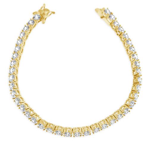 Bitter Sweet Jewellery Costume Gold Cubic Zirconia Bracelet  142295