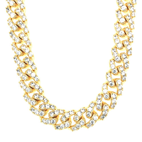 "Bitter Sweet Cubic Zirconia Cuban Link 16"" Inches Necklace 142861"