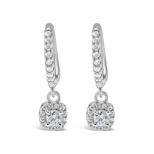 Sterling Silver Cubic Zirconia Huggie Earrings 142500
