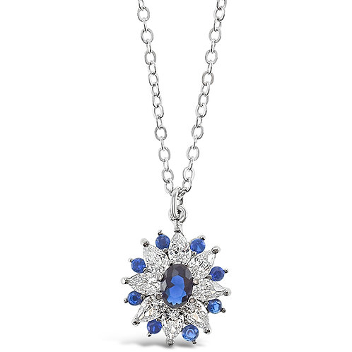 Sterling Silver Cubic Zirconia Necklace 141589