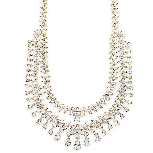 Bridal Gold Cubic Zirconia Necklace 143598