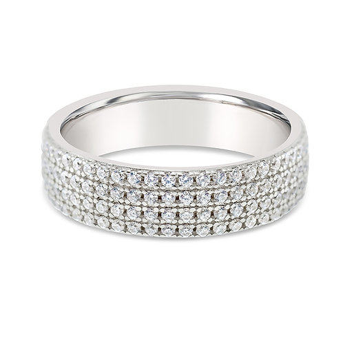 Bitter Sweet Sterling Silver Cubic Zirconia Ring 126196