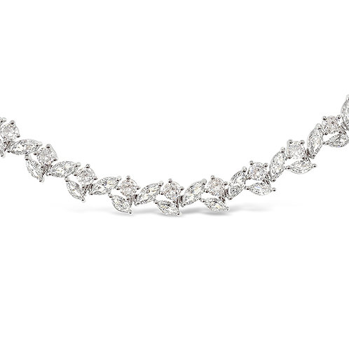 Bitter Sweet Bridal Silver Cubic Zirconia Bracelet 142899