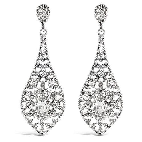 Bitter Sweet Fashion Silver Crystal Drop Earrings 136908