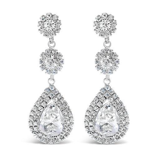 Fashion Silver Rhinestones Earrings  142183