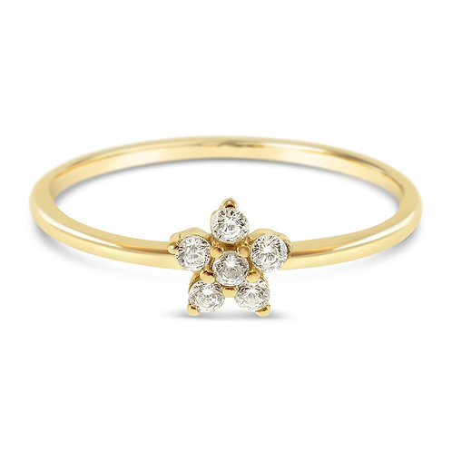 Bitter Sweet Gold Plated Sterling Silver Cubic Zirconia Ring 141537
