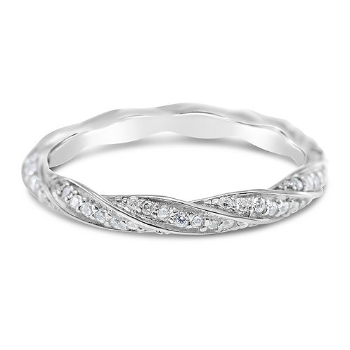 Bitter Sweet Sterling Silver Cubic Zirconia Ring 141433