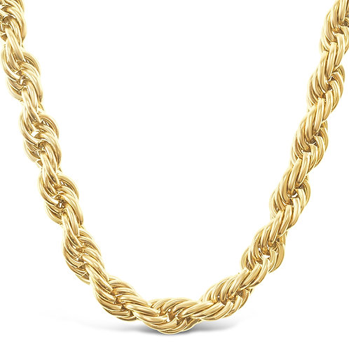 Bitter Sweet Stainless Steel Gold Rope 5mm Chain 141493