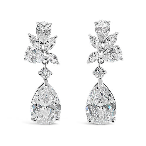 Silver Cubic Zirconia Earrings 137415